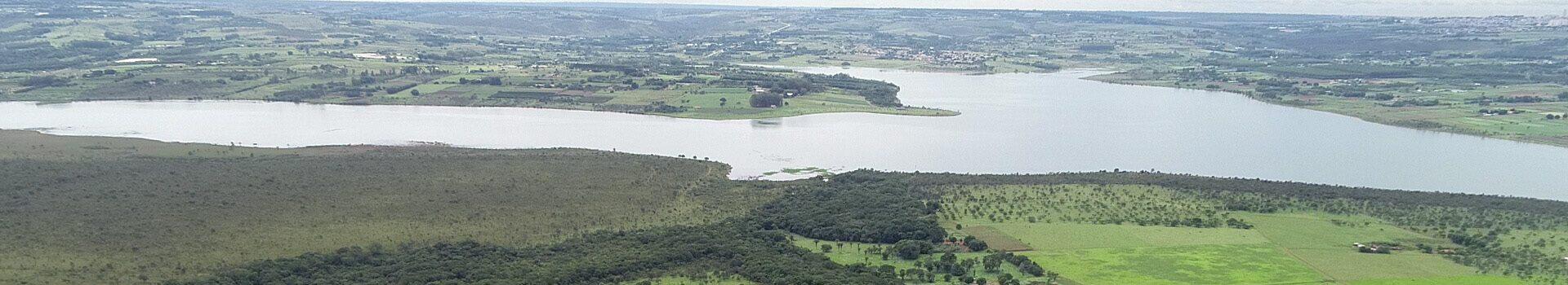 Imagem da barragem de Águas Lindas